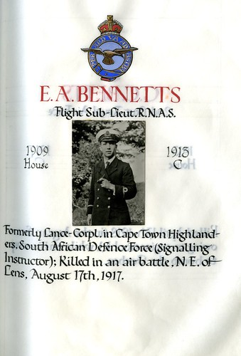 Bennetts, Eric Augustine (1895-1917) | by sherborneschoolarchives