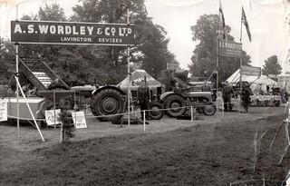 A S Wordley & Co of Lavington at Trowbridge & District Agricultural Show 1954