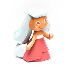 วิธีทำโมเดลกระดาษตุ้กตาคุกกี้รัน คุกกี้รสจิ้งจอกเก้าหาง (Cookie Run Nine Tails Cookie Papercraft Model) 017