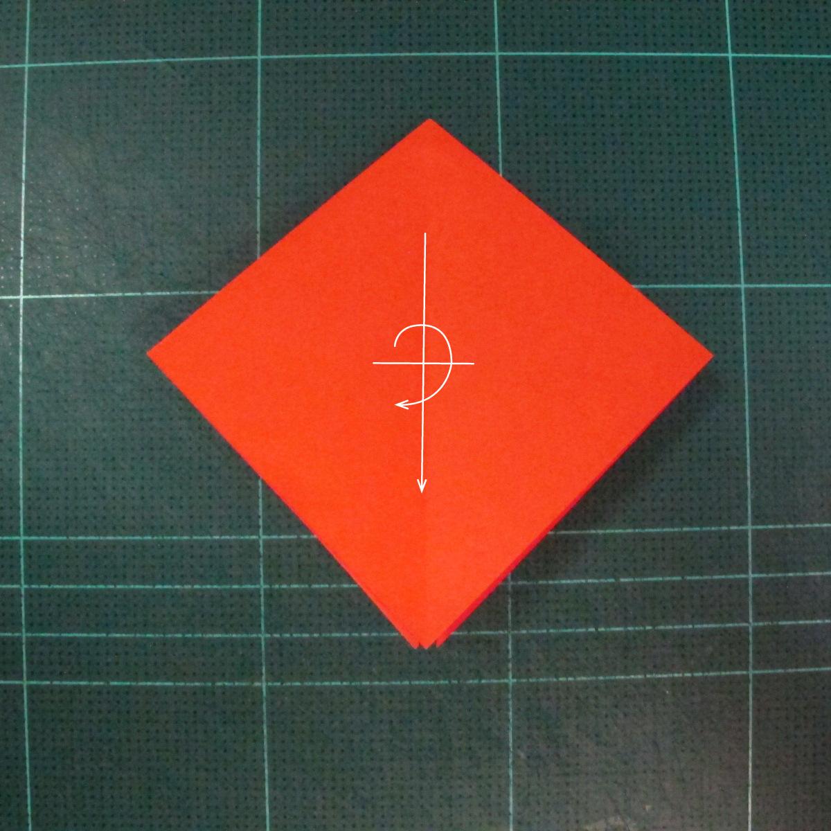 วิธีพับกระดาษเป็นช่อดอกไม้ติดอกเสื้อ (Origami Wedding Chest Flower) 005