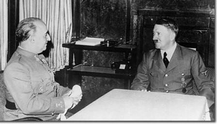 Entrevista entre Franco y Hitler en Hendaya