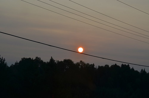 2014 canada ontario on summer northamerica bancroft sunset cables powerlines sun nikond5100