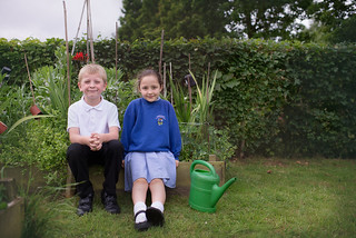 Having a rest during watering duties   by Hawkhurst CEP School Web Site Photos