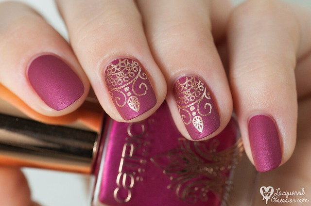 Poetic Pink Mauve Nail Art   Classy Mauve Nail Designs For An Exquisite Look   mauve acrylic nails