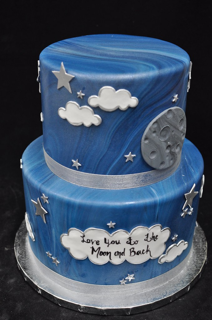 Groovy Love You To The Moon And Back Birthday Cake Jenny Wenny Flickr Funny Birthday Cards Online Inifofree Goldxyz