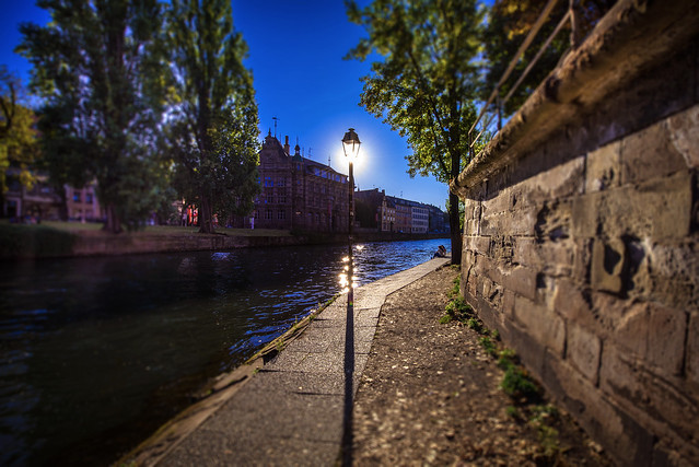 Walking along the river Ill - Strasbourg - France