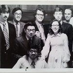 Biomedical Engineering Professor Albert King with students in 1971