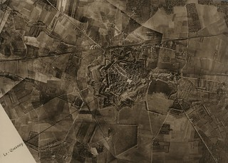 Aerial photograph of Le Quesnoy taken in 1918