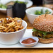 I'll have the burger with fries, please. by Schill