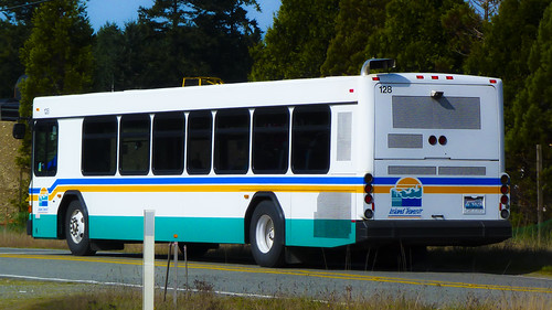 Island Transit Big Bus Somewhere on Whidbey Island
