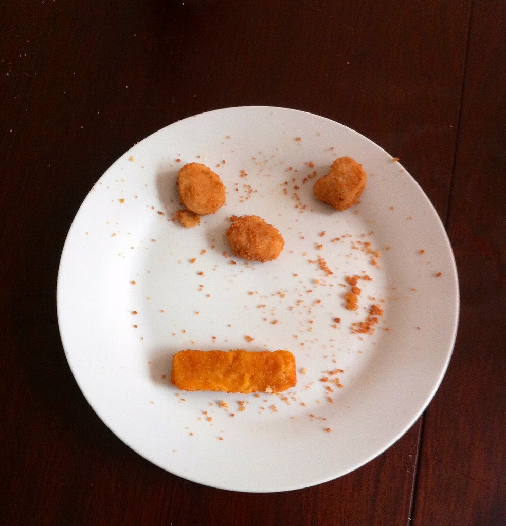 Chicken nugget and fish finger face | Dawn | Flickr