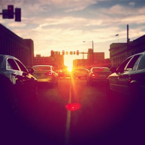 city sunset urban usa sun sunlight cars philadelphia america unitedstates westphiladelphia pennsylvania pa philly marketstreet westphilly universitycity 215 2014 cityofbrotherlylove instagram phillyhenge