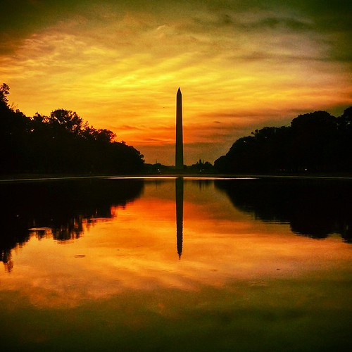 reflection silhouette sunrise square washingtondc dc districtofcolumbia fav50 squareformat kelvin washingtonmonument fav10 fav25 fav100 iphoneography instagramapp uploaded:by=instagram foursquare:venue=4b65f636f964a5203e0b2be3