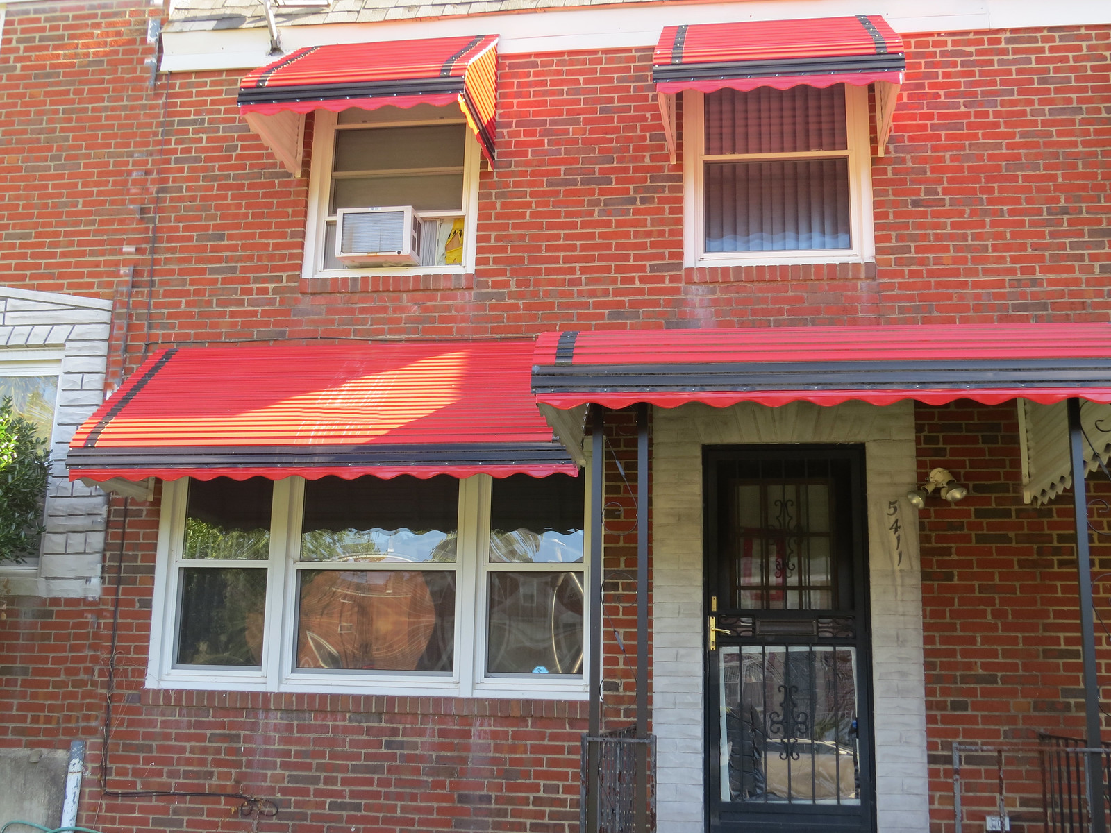 Red Aluminum Awnings