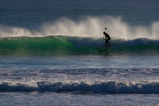 Paddle boarder at Praa Sands