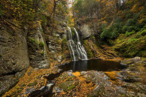 clear autumn outdoors colorful foliage waterfall sel1635z bushkills water reflections colors pretty nature fall sonya7r landscape
