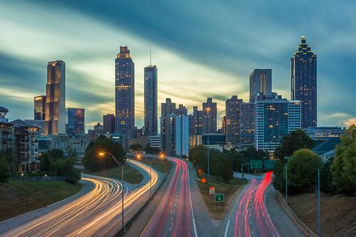 atlatnta sunset cityscape urbanfragment usa skyline lightandshadow dusk outdoorsphotography ga
