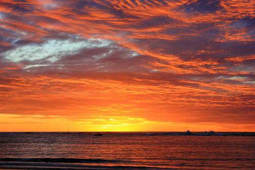 sunset clouds australia redsky westernaustralia kalbarri