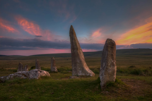 sunset pagan summersolstice pagansite scorhillstonecircle scorhilldartmooruk scorhillstones 2014summersolstice