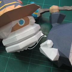 วิธีทำโมเดลกระดาษของเล่นคุกกี้รัน คุกกี้รสพ่อมด (Cookie Run Wizard Cookie Papercraft Model) 051
