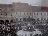 Prachatice a socha Josefa II. před více než 100 lety, foto: Petr Nejedlý