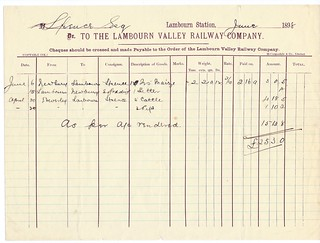 Lambourn Valley Railway Waybill 1908 | by ian.dinmore