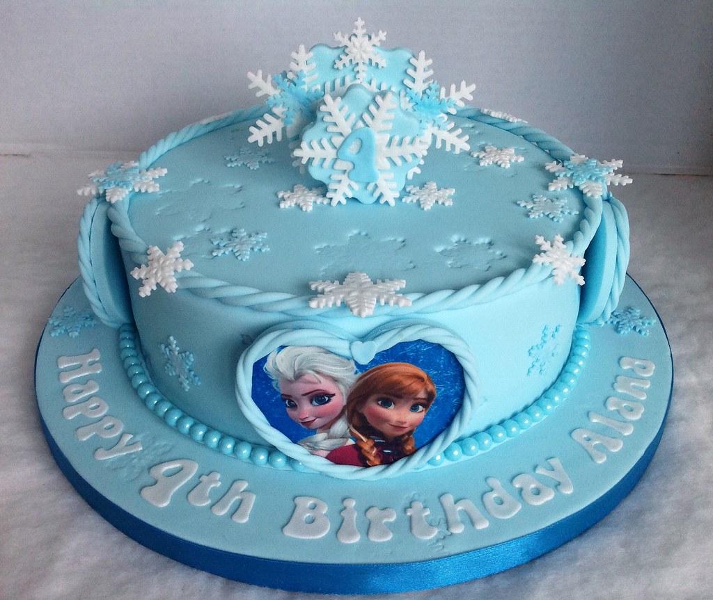 Astounding Frozen Birthday Cake Liz Flickr Funny Birthday Cards Online Fluifree Goldxyz