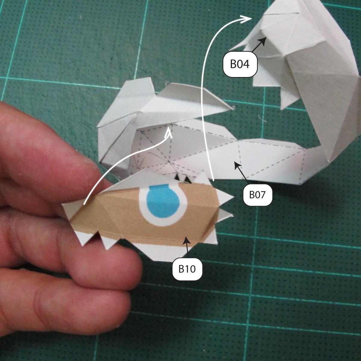วิธีทำโมเดลกระดาษของเล่นคุกกี้รัน คุกกี้รสพ่อมด (Cookie Run Wizard Cookie Papercraft Model) 006