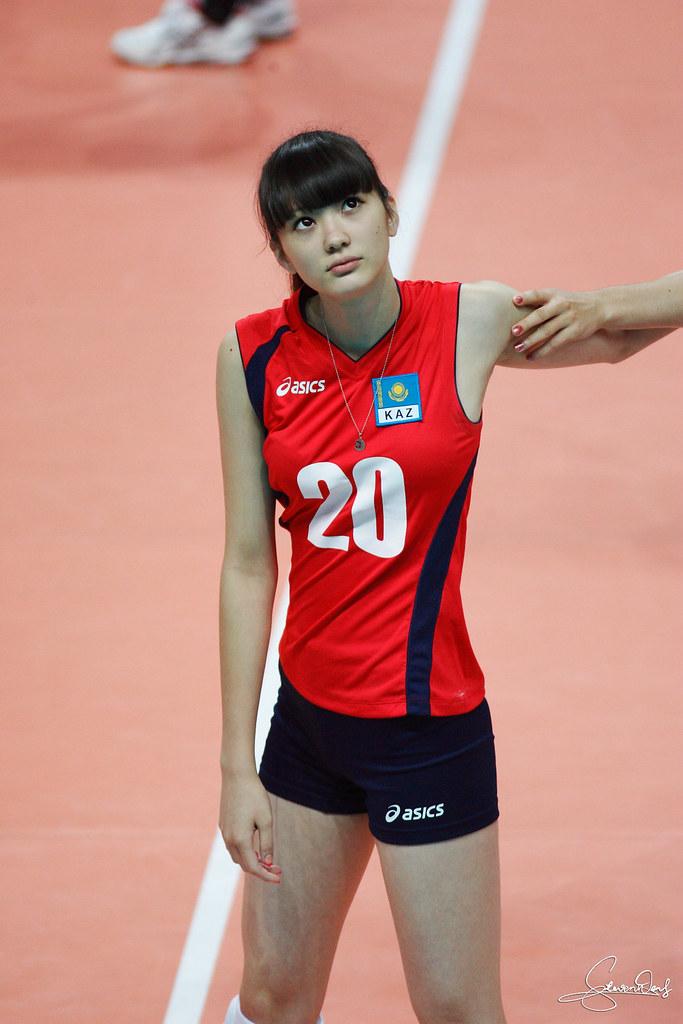 CHARMING FACES: Sabina Altynbekova Pretty Volleyball
