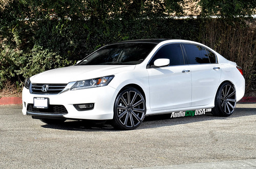 "2014 Honda Accord on 20"" Gianelle Santoneo matte black with ball cuts 