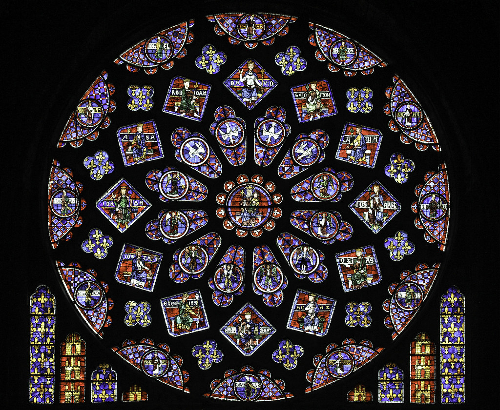 Chartres North Rose The Rose Window In The North