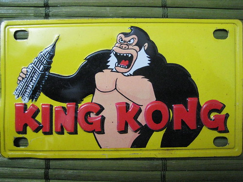 1967 Marx King Kong License Plate | by Donald Deveau