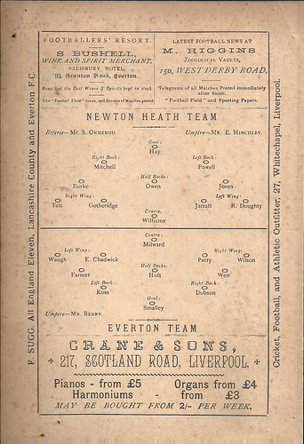 EVERTON V NEWTON HEATH 15-4-1889 | by Ray Adler- treble 99