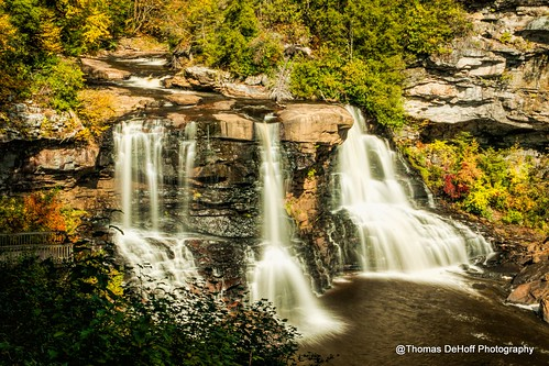 waterfall blackwater falls state park west virginia long exposure silky smooth sony a700