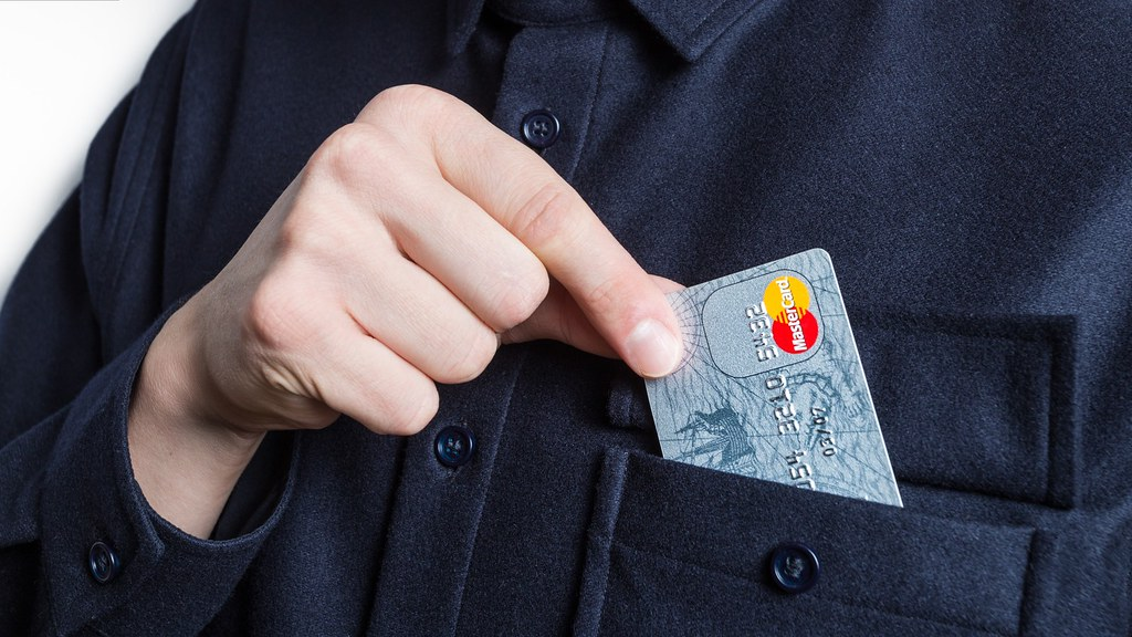 Credit card in a jacket