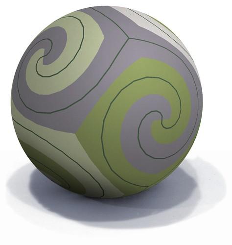 4 Triskelions Tiling a Sphere
