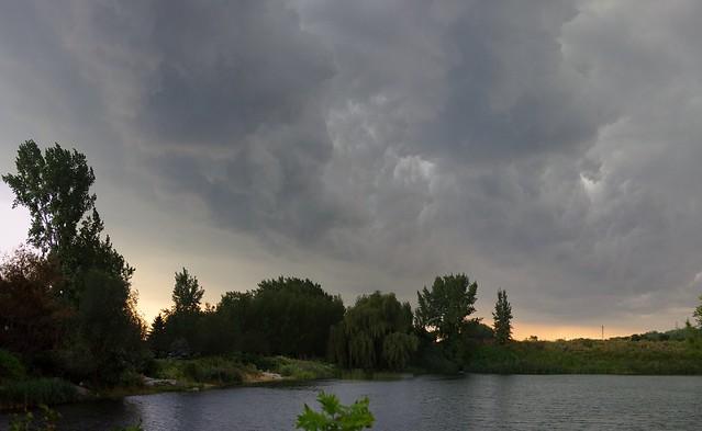 Lasalle parc des rapides avant l'orage