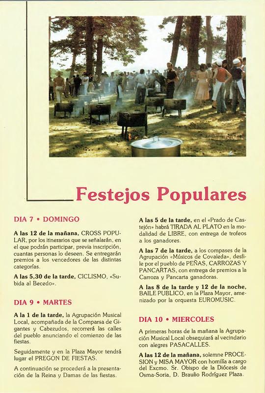 Programa Fiestas de San Lorenzo Año 1988