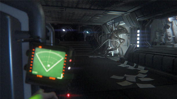 Image of a moment from the game Alien Isolation