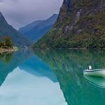 reflexion sur le Oldevatnet (Norvège)