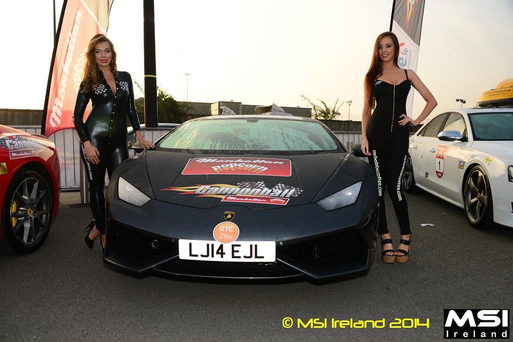Mr Hobbs Coffee girls & Lamborghini Huracán Cannonball 2014 - 000