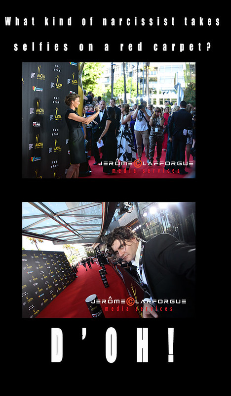 red carpet selfie meme 2