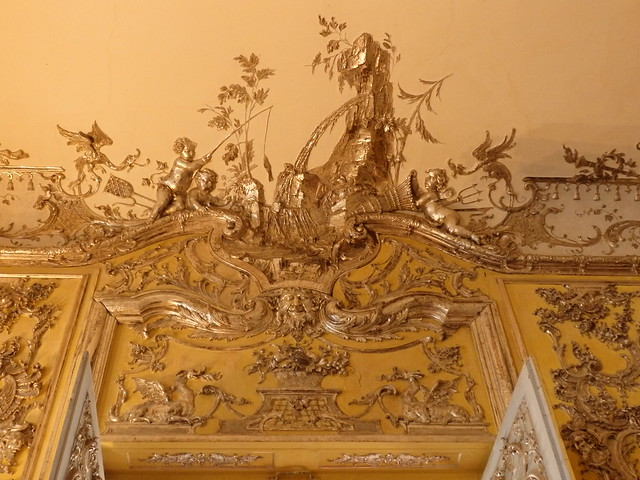 Decorative detail, the Bedroom in the Amalienburg