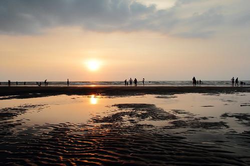 sunset beach dusk taiwan 夕陽 miaoli 苗栗 chunan 海邊 假日之森 竹南 canon60d zhunan