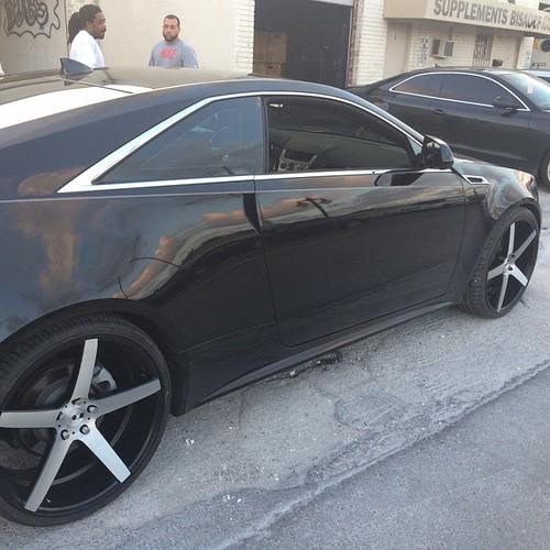 22 Inch XO Miami Black Machine Wheels 2011 Cadillac CTS Co