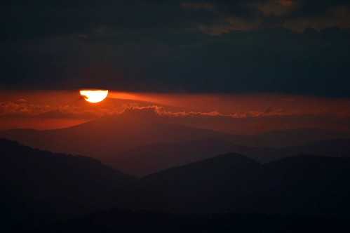 mountains sunset sun clouds sky layers brp blueridgeparkway carolina ncmountainman nikon d3200 phixe usa lowresolutionversion