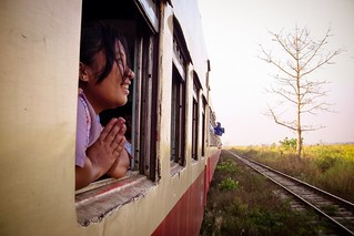 Devotion, train to Mandalay, Myanmar, 2012 | by Fabionik