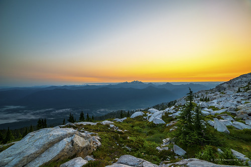 trees summer sky snow mountains fog clouds sunrise landscape washington rocks unitedstates hiking boulders cascades summit overlook granitefalls firelookout mountpilchuck threefingers 5344ft