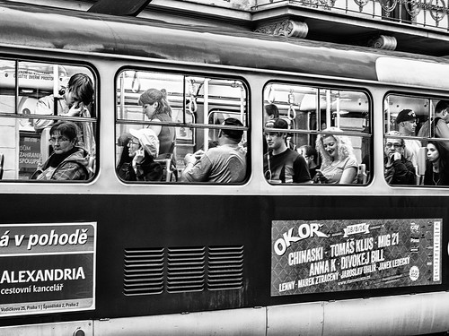 Prague streets: transports and faces | by frolik2001