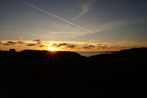sunset sea sky norway landscape